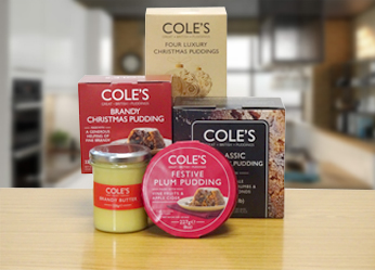 Cole's Puddings Product Range
